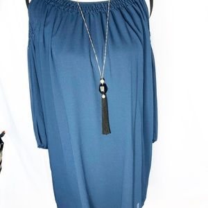 NWT Medium Max Edition Deep Teal Dress